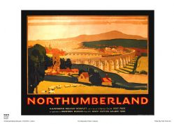 Northumberland - Berwick - Railway & Travel Poster